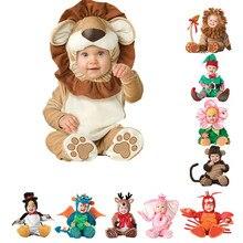 Детский комбинезон для новорожденных, одежда для малышей с изображением пирата, динозавра, пингвина, Санта Клауса, карнавальный костюм на Рождество, Хэллоуин, 2019