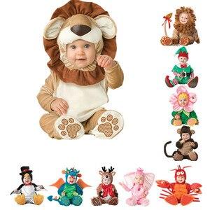 Image 1 - 2019 bebek tulum yenidoğan Bebe elbise hayvan korsan dinozor penguen noel baba karnaval noel cadılar bayramı kostüm çocuklar için