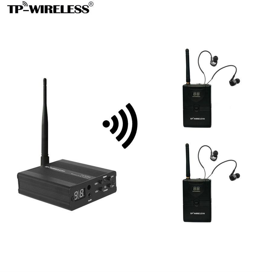 TP WIRELESS モニターシステム 2.4 ghz オーディオモニターシステムでシステムステージ 1 トランスミッタと N 受信機  グループ上の 家電製品 からの マイクロフォン の中 1
