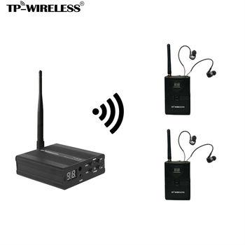 TP-WIRELESS Monitor di Sistema 2.4 ghz audio Monitor di Sistema Trasmettitore Wireless In Ear Monitor di Sistema per la Fase 1 e N ricevitori