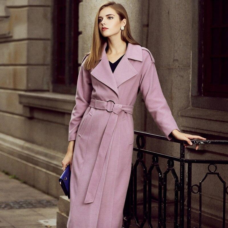 Style De G129 Mode Chaud Lavender Européen Longues xxl Femmes D'hiver Nouveau Cachemire Outwear S Veste Printemps Manteau Laine Femelle 4qOT8x4Cn