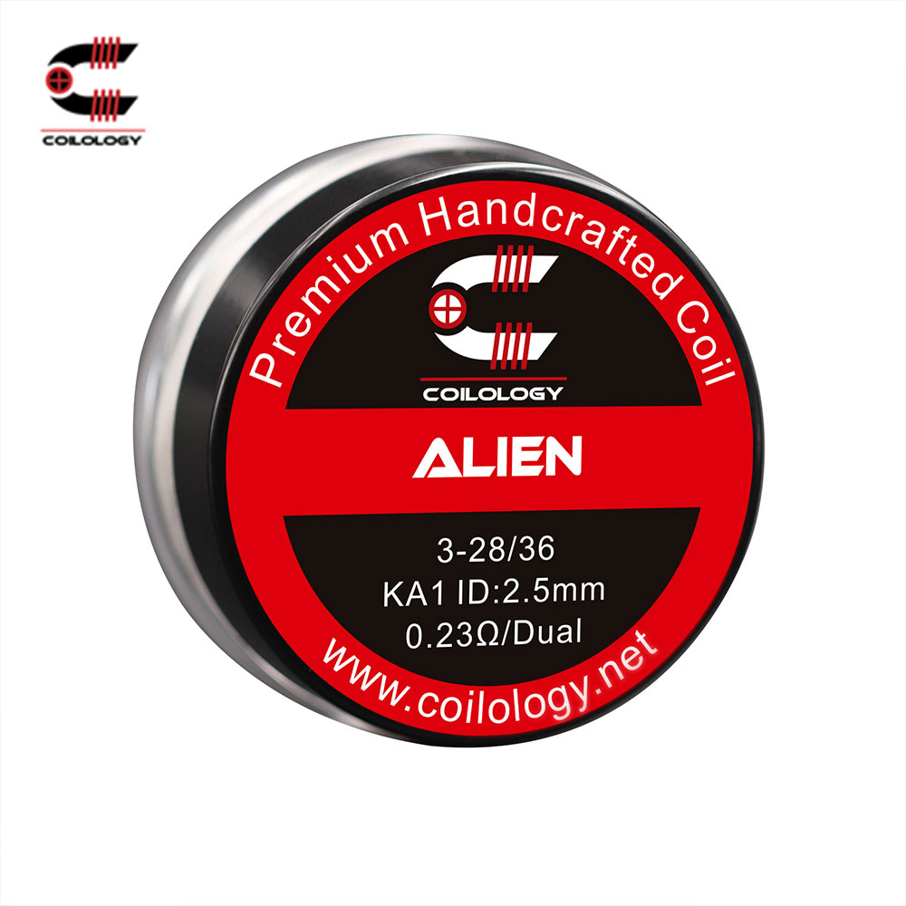 Original Coilology Alien Coil Set Triple Parallel Wires 100% Handcrafted Ni 0.1ohm/Ni 0.16ohm/SS316L 0.07ohm/ SS316L 0.13ohm