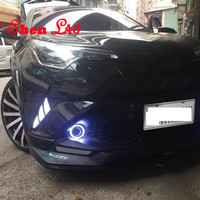 Shenlao For Toyota CHR C HR 2017 2018 LED DRL Daytime Running Light Daylight Fog Lamps yellow turn Signal lamp car Styling
