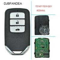 DJBFANDEA 433mhz Car Remote Smart Key for Honda 72147 TEX G01 City Jazz XRV Venzel HRV CRV Accord Civic Element Control Alarm