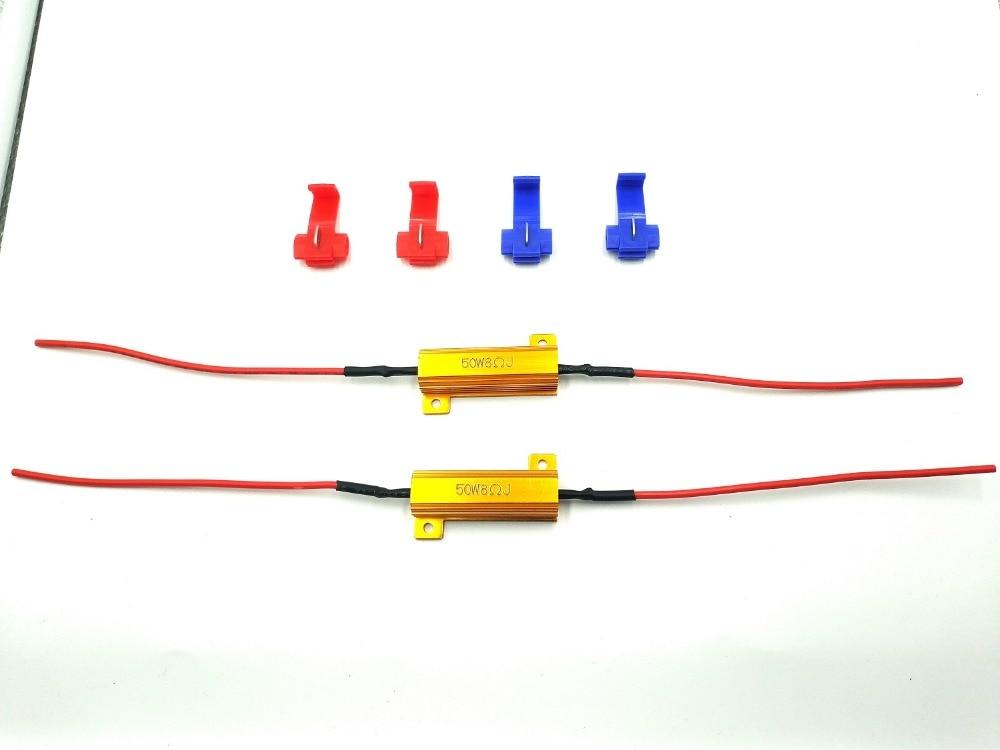 Résistance à la charge Led 2x50W 6ohm | H1 H3 H4 H7 H8 H11 9005 9006 1156, phare HID DRL, câblage de phare antibrouillard, Decode GLOWTEC