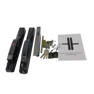 Image 4 - 304 สแตนเลสอลูมิเนียมลายนิ้วมือล็อคสำหรับเลื่อนประตูสีดำ