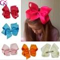 Cinta del grosgrain hair bows boutique de pinzas para el cabello del bebé hairclips china compuesto arco diadema arco de la cinta accesorios girls'hair