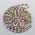 "Free Shipping! Popular 8mm Multicolor Freshwater Pearls Necklace 90"" Length Wedding Jewelry Wholesale FP044"