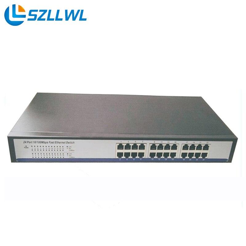 19 Stackable Metal case stock Full-duplex & Half-duplex 24 Port Ethernet Switch 10/100Mbps For Hd IP Camera evolis avansia duplex expert smart