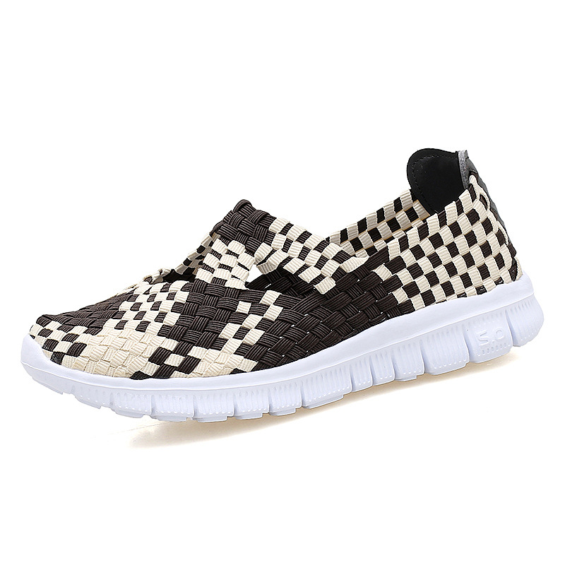 2017 Summer Comfortble Breathable Women's Casual Shoes Slip On Handmade Woven Women Shoes Light Weight Soft Women Flats