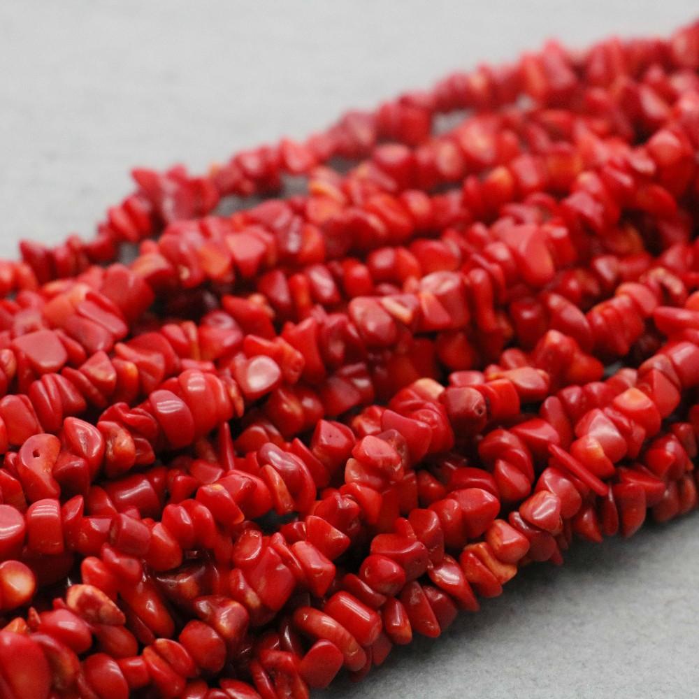 """Vente 3-4 mm Rouge Rond Naturel Corail 6 brins 7.5/"""" Bracelet beauté et fermoir-bra271"""