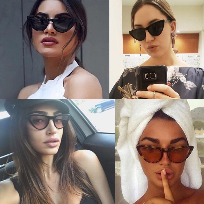 a43e26b20015f Retro Mulheres Pequeno Gato Olho Óculos De Sol de Marca Designer de ...