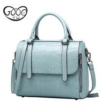 Bags Handbags Women Famous Brands Women Leather Handbags Ladies Party Shoulder Bags Top-Handle Bags Genuine Leather Bag