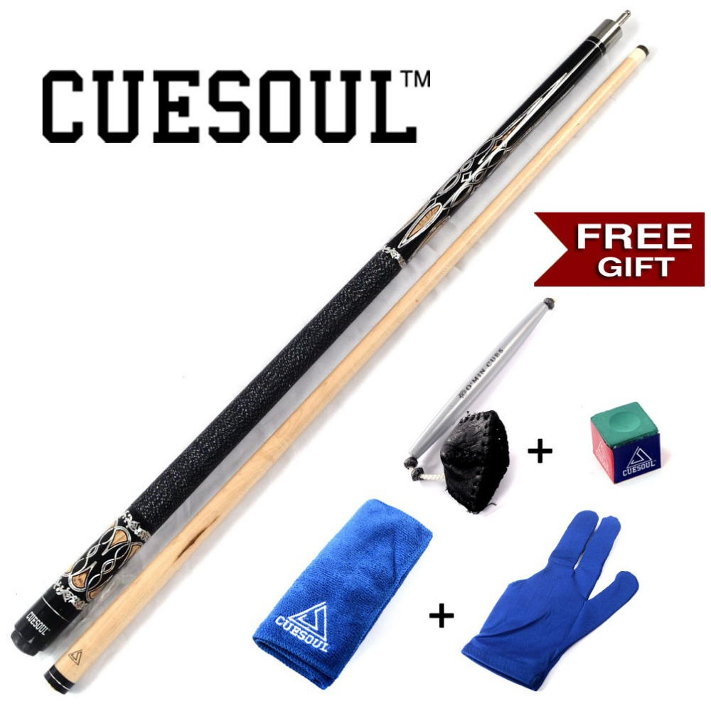 CUESOUL Pool Cue Stick with Gift Free Cue Clean Towel+Billiard Chalk+Bridge Head ,Pool Cue With 13mm Cue Tip