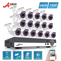 ANRAN 1080N HDMI AHD 16CH DVR Kit 720P CCTV 36 IR Day Night Waterproof Outdoor Home