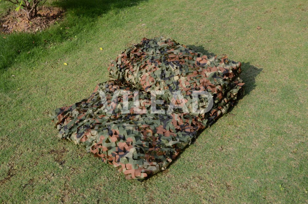 VILEAD 2M*4M Hunting Military Camouflage Net Woodland Army Camo Netting Camping Sun Shelter Tent Shade Net Car Covers Tent loogu em 3m 4m blue camo netting sea ocean camouflage netting ship covering tent decoration camouflage net