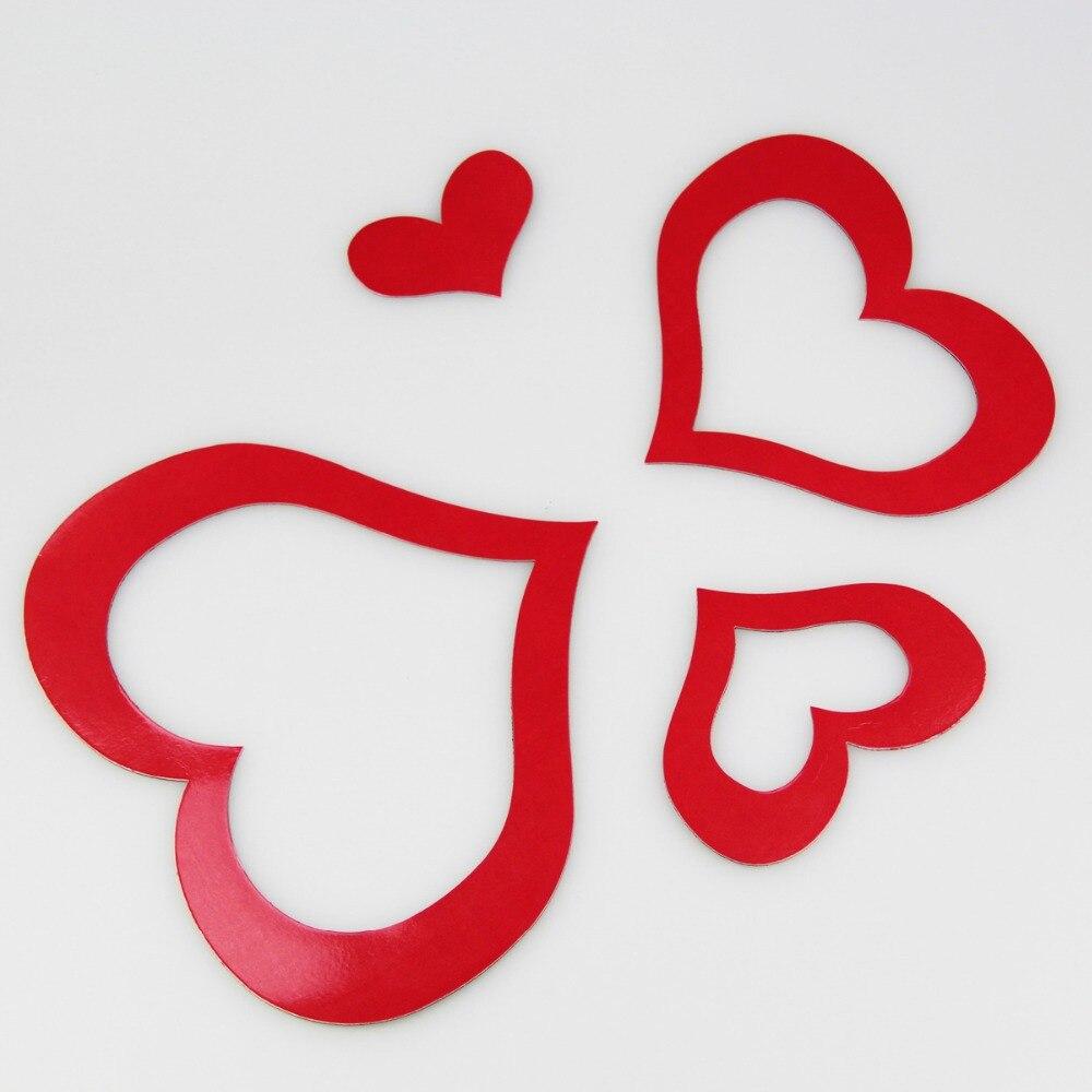 Magnético suave lindo color rojo corazón foto y Marco DIY álbum para ...