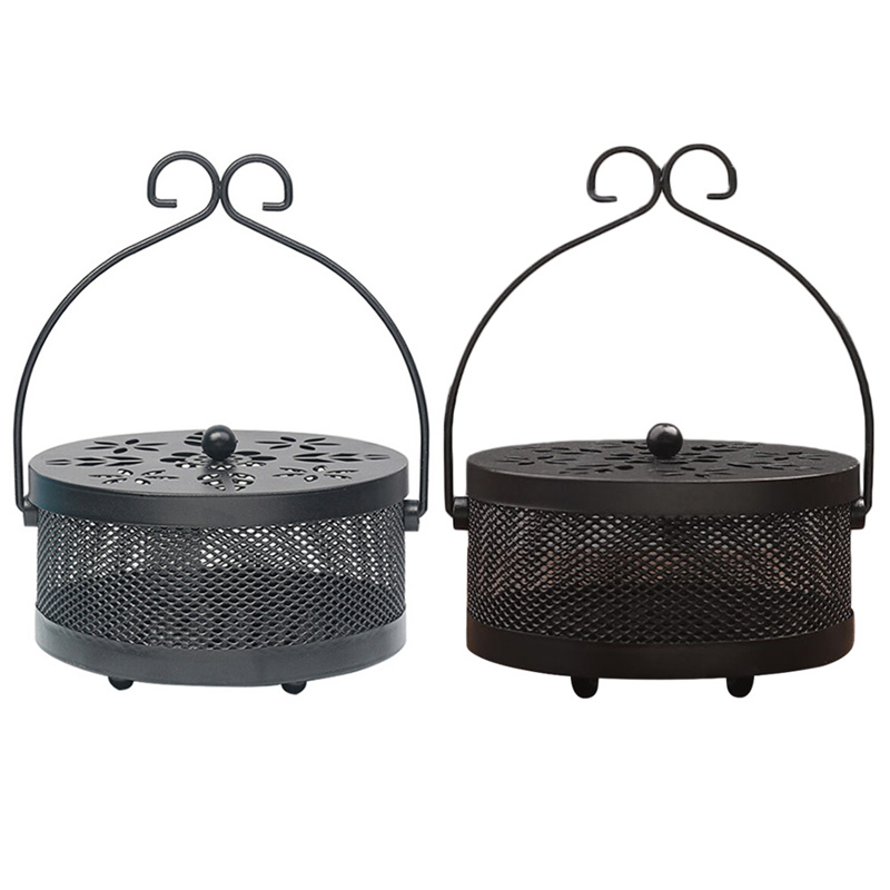Innovative Portable Iron Mosquito Coil Holder Case Hollow Anti Scalding Garden Mosquito Coil Rack(China)