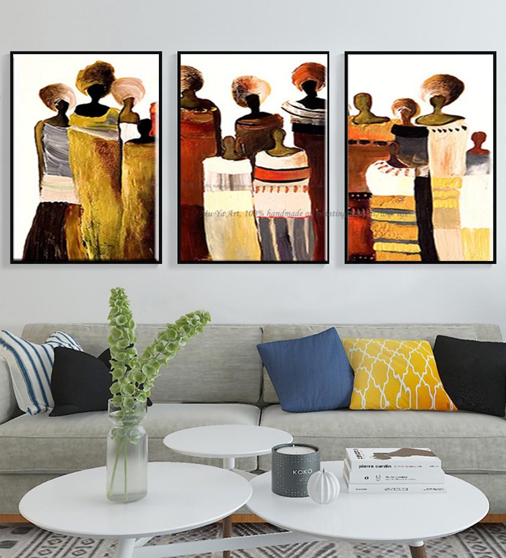 3 stück moderne leinwand kunst handgemachte afrikanische frauen ...