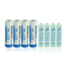 4XAA aa 5# 2500mAh 2A 1.2v Ni-MH Rechargeable Batteries+4x AAA aaa 7# 1200mAh 3A Batteries led torch Toys