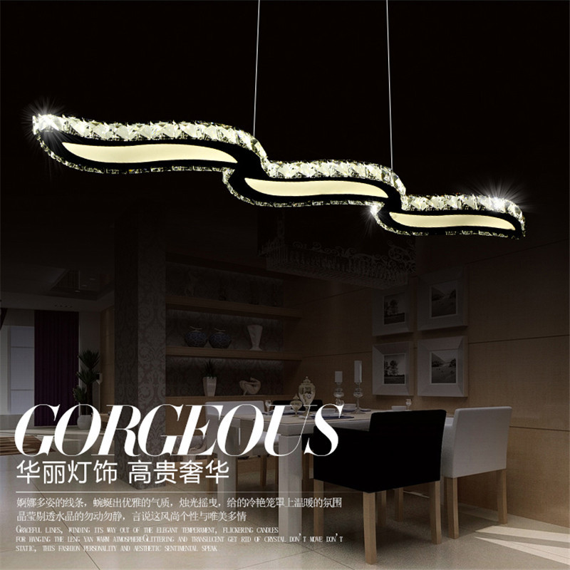 36W Modern Crystal LED Chandelier For Dining Room Stair Bedroom Corridor Chandeliers Acrylic Pendant Lamps L98CM 110/220V WPL142 led chandeliers for dining room bedroom kitchen white color k9 crystal chandelier light for home decoration lustres para quarto