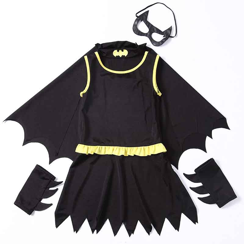 new girls halloween costumes animal cute bat cosplay kids batman fancy dress costume for kids connect wings batman clothesin girls costumes from