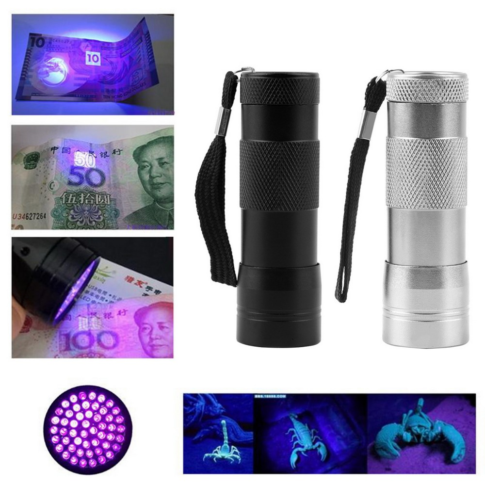 2018 Hot Aluminium Invisible bicycle light Ink Marker 12LED 12 LED UV Ultra Violet Mini Portable Flashlight Torch Light Lamp Hot
