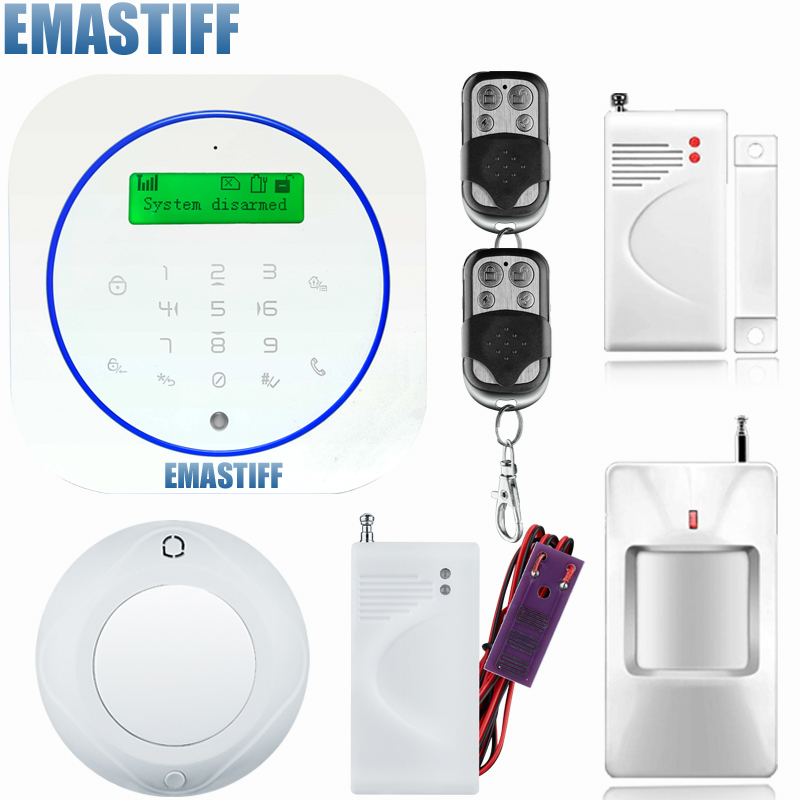 Metal Remote Control Voice Prompt Wireless wate sensor Home Security GSM Alarm systems LCD Display Wired Siren Kit SIM SMS Alarm yobang security rfid gsm gprs alarm systems outdoor solar siren wifi sms wireless alarme kits metal remote control motion alarm