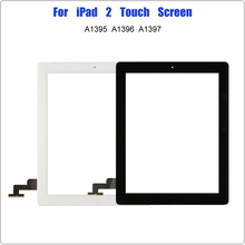 for iPad 2 2nd Gen A1395 A1396 A1397 Touch Screen Digitizer Front Glass Pannel Screen Replacement for iPad2 With Home Button new for ipad2 a1395 a1396 a1397 replacement touch screen digitizer glass without home button white black