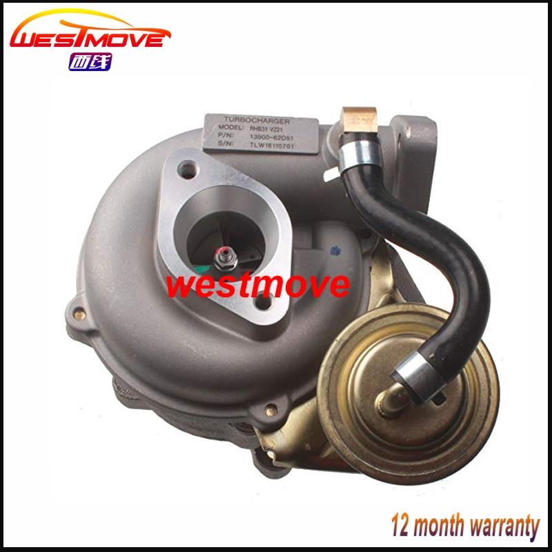 RHB31 turbo 13900 62D51 13900 62D50 VZ21 VE110069 turbocharger for SUZUKI SWIFT Jimny Alto SX4 LIANA Grand Vitara mini cars