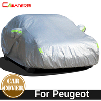 Cawanerl For Peugeot 407 408 5008 508 607 301 Thicken Car Cover Waterproof Sun Snow Rain Hail Protection Cotton Cover Dust Proof