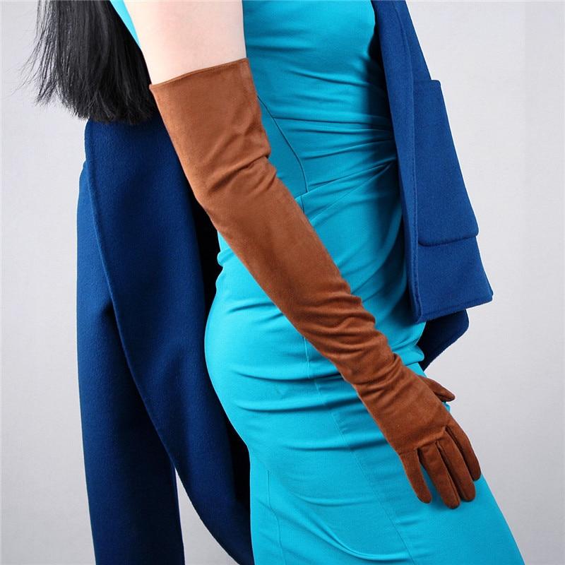 Aliexpress.com : Buy Fashion Simple Women Suede Gloves ...