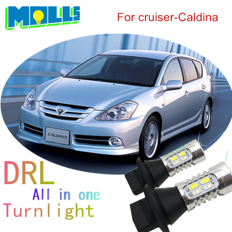 Shinman led WY21W 7440 DRL Daytime Running Light& Front Turn Signal all in one car led light for Toyota urban cruiser Caldina tcart 2x auto led light daytime running lights turn signals for toyota prius highlander for prado camry corolla t20 wy21w 7440