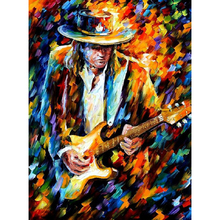 Hand Painted Landscape Abstract Stevie Ray Vaughan Knife Modern Oil Painting Canvas Art Living Room hallway Artwork Fine Art