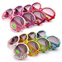 2017 Kids Sunglasses Pretty Fashion Candy Colorful Circle Children Sun Glasses Wholesale Random Color 078