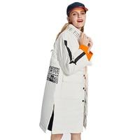 Women Stand Collar Waterproof Warm White Duck Down Jacket 2017 Winter Female Fashion Slim Down Coat Lady Plus Size Parka LW21