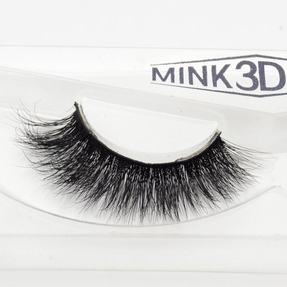 Visofree 3D Mink Eyelash  Real Mink Handmade Crossing Lashes Individual Strip Thick Lash Fake Eyelashes A08