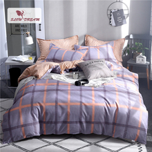 Slowdream Geometry Style Duvet Cover Set Double Queen King Bedspread Comfort Bedding Bedclothes Decor Bed Sheet Linen