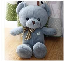 Free shipping Stuffed & Plush Animals Genuine 25cm.40cm  teddy bear plush toys Children Wear Scarf Scarf Bear Teddy Bear Gift
