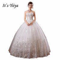 2017 Custom Made Real Photo Plus Size Sequins Strapless Lace Wedding Dresses Cheap White Bride Frocks