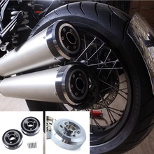 CNC Aluminum Exhaust Muffler Tip Tail Cover Exhaust CAP for 2014-2016 BMW R Nine T R9T 2015 Exhaust Tips End Cap Cover kemimoto for bmw exhaust bracket fit for bmw r nine t 2014 2015 2016 2017 motorbike accessories