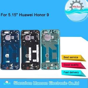 """Image 1 - M & Sen 5.15 """"Cho Huawei Honor 9 Honor9 Trước Ốp Viền Khung/Trung Khung Nhà Ở Với Bên Phím dành Cho Huawei Honor 9 Giữa Khung"""