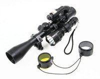 1 bộ Khuyến Mại Săn Bắn Nhỏ Gọn Combo Rifle Phạm Vi 3-9x40EG w/Laser & CREE T6 LED Hunting Đèn Pin 5 Chế Độ C8 Torch Flash ánh sáng