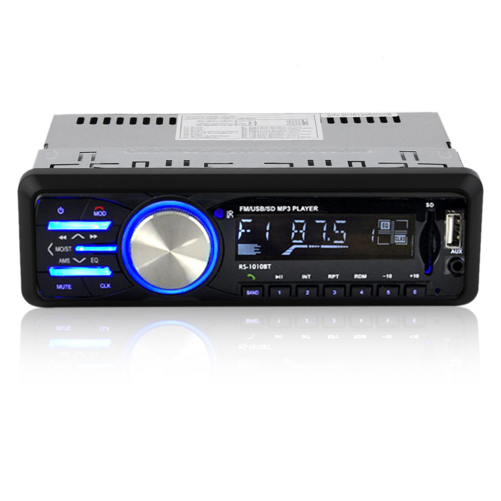 Car FM Audio Player Radio FM MP3 Bluetooth Remote Control Control USB AUX Player Electronic Receiver Trendy 1010BT free shipping