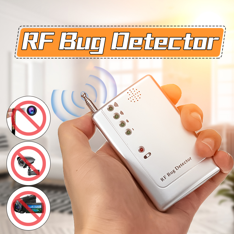 RF Scanner Detector Bug Camera Bug Detector WiFi Wireless Transmitter Signal GPS GSM Device Finder Private Protect Security 1 pcs full range multi function detectable rf lens detector wireless camera gps spy bug rf signal gsm device finder