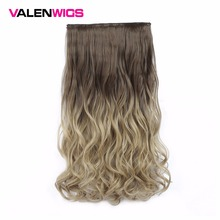 Valen Wigs Synthetic Hair Pieces Clip In One Piece False Omber Body Wavy Style 22