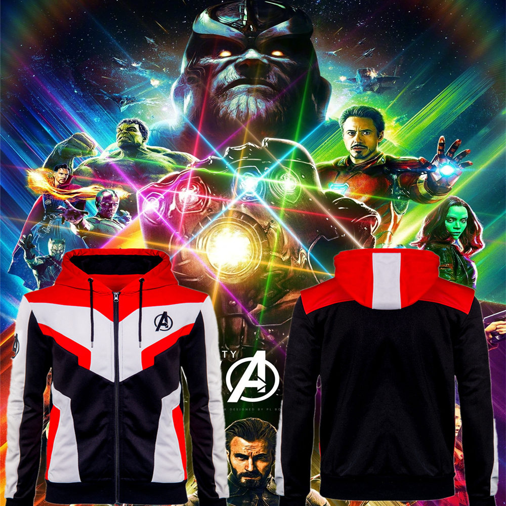 Adult Kids 1:1 Avengers Endgame Quantum Realm Cosplay Costumes Casual The Avengers 4 Sweatshirt Hoodie Advanced Tech Jacket Coat