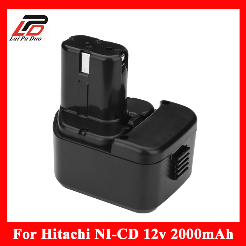 NEW 12v 2.0Ah Ni-cd Replacement power tool battery for HITACHI EB1212S, 1214L,1214S,1230X, EB 1233X DN 12DYK, DN 12Y, DS 10DTA eleoption 12v battery for hitachi eb1220bl eb1214s eb1212s wr12dmr cd4d dh15dv c5d
