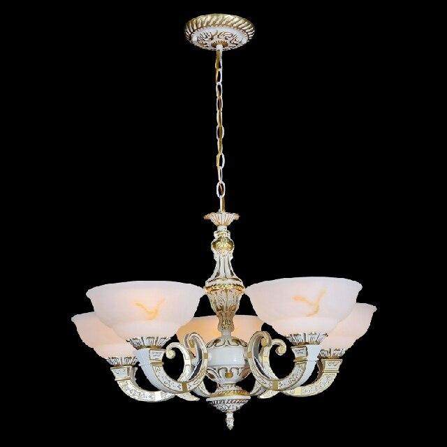 Несколько люстра деревенский кованого железа сплав двойного всасывания висит люстра, лампа гостиная Светильник спальни ZX85