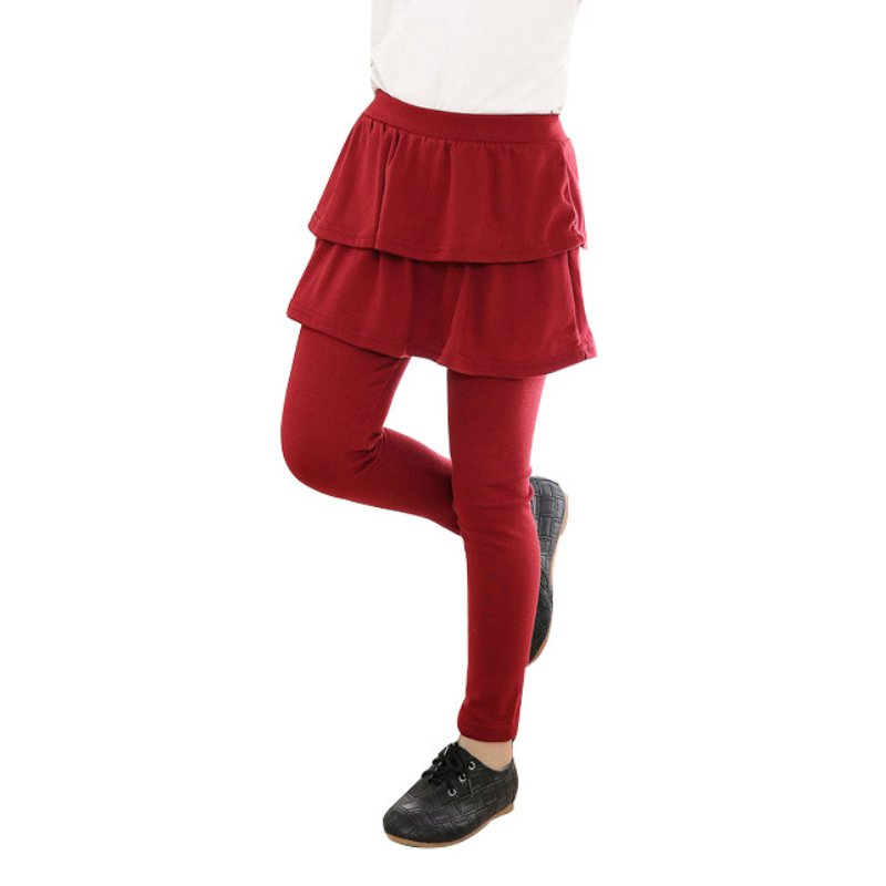 цена на Cute Kid Girl Ruffle Tutu Skirt Cake Elastic Culottes Leggings Pants 3-11Y Drop Shipping